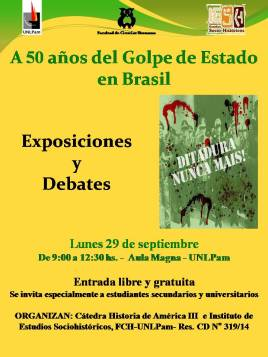 Afiche golpe en Brasil