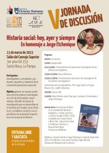 Afiche V Jornadas 13-3-2015